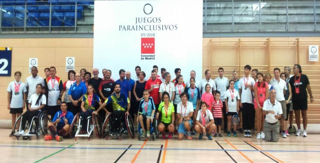 Badminton in I Para – Inclusive Games organized by the Community of Madrid