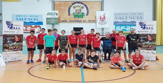 Paralympic Committee, Paralympic Relay and Xátiva Badminton Club lead the new B4ALL beginning.